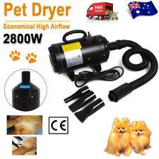 2800W Pet Dog Cat Hair Dryer Grooming Blaster Blower Hairdryer Heater Black AU