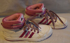 ADIDAS WOMENS WHITE MIX  LACE UP LEATHER TRAINERS /SHOES SIZE 3/35.5(WTS38)