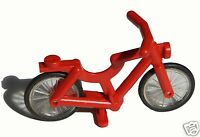 Lego Minifig Accessory Bicycle Complete Assembly RED