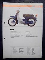 YAMAHA V50 - Motorcycle Sales/Specification Sheet - C.1981