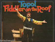 "Topol ""FIDDLER ON THE ROOF"" Thelma Ruby / Bock & Harnick 1983 London Program"