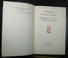 A BIBLIOGRAPHY OF BOOKPLATE LITERATURE...Limited Edition...1926