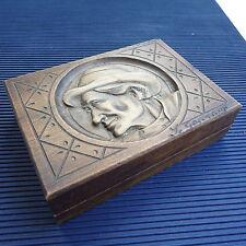 Boîte  à Bijoux Sculpture Bois Artisanale Signée L.Goccyauf 15x11x4 Cm - 180 Grs