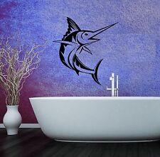 Wall Stickers Vinyl Decal Sword Fish Ocean Sea for Bathroom (ig507)