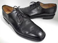 Salvatore Ferragamo 10 D Black Leather Dress Oxfords Italy