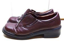 Josef Siebel Women's Brown Leather Loafer Slip On Zip Heel Bicycle Toe Shoes 9M