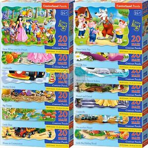 Castorland 20 Maxi Piece Jigsaw Puzzle For Kids Big Parts Tales Animals Riddle