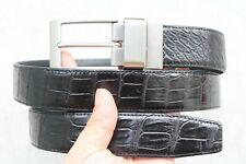 Double Side Black - Brown Genuine Alligator Crocodile Leather SKIN MEN'S Belt