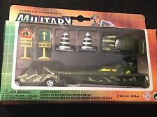 ARIS Military Die-Cast Camo Boat /Trailer/ 2 Vehicles + Road Signs/ Cones- NEW