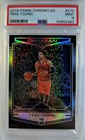 2018-19 Panini Obsidian Preview Trae Young Rookie RC #575, Hawks, Graded PSA 9