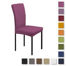 Coppia coprisedia vesti sedia tinta unita Bielastico 2 pezzi art. Magico L369