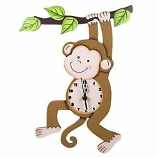 Fantasy Fields - Sunny Safari Animals themed Kids Wall Clock Best for Nursery Ro