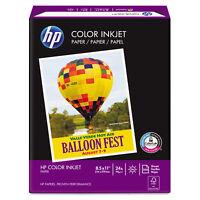 Hp Color Inkjet Paper 96 Brightness 24lb 8-1/2 x 11 White 500 Sheets/Ream 202000