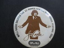 Vintage 1980S Joe Cocker Promo Pin Ny Central Park Pinback Button, Wplj95.5