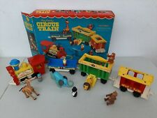 Vintage Fisher Price Little People Play Family Circus Train #991 Complete Box
