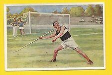 Track and Field Javelin Vintage 1932 Sanella Sports Card #115