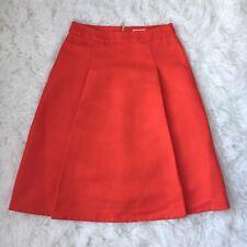 KATE SPADE Orange Structured Lined A-Line Skirt Size 2