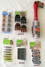 Lot of 6 Hair Care Supplies Scunci and Conair Clips Brush  L2