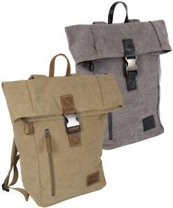 Rucksack Daypack Backpack Kurier-Tasche Vintage Style aus Canvas Laptopfach 15`
