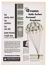 1953 AD PIONEER PARACHUTE CO. GUIDE SURFACE PERSONNEL PARACHUTES P7-B, P9-B