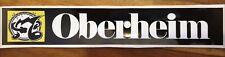 Oberheim sticker decal 33mm X 190mm
