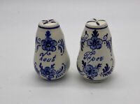 Vintage Hand Painted Delft's Blue Salt & Pepper Shakers Original Holland