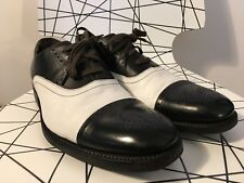G-STAR RAW Mens Black White Leather/Textile Shoes Size 11US - 10UK