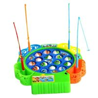 Baby Educational Toys Fish Musical Magnetic Fishing Toy Set Fish Game Educat Q2F