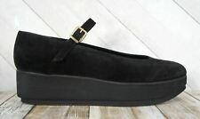 ROBERT CLERGERIE FR39.5 Black Suede Rubber Platform Wedges 8.5