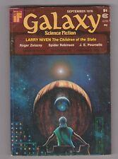 Galaxy Science Fiction, September 1976 Larry Niven; Roger Zela