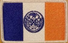 NEW YORK CITY Flag Tactical Patch With VELCRO® Brand Fastener White Border #7