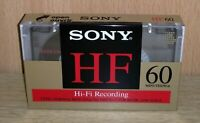 Vintage cassette SONY HF60 POSITION TYPE1 NORMAL new sealed very nice *rare