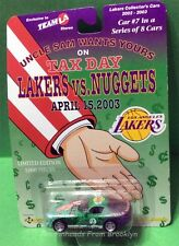 LA LAKERS DIE CAST CAR #7 OF 8  TAX DAY APRIL 15, 2003 VS NUGGETS