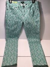 J.CREW TOOTHPICK JEANS SIZE 28 ANKLE FLORAL FLOWER PANT