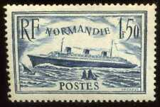 FRANCE  PAQUEBOT NORMANDIE 1F50 bleu Yvert n° 299  ( 2 )