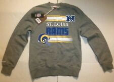 NWT Mitchell & Ness St. Louis Rams Men's Small Crewneck Gray Sweater Pullover