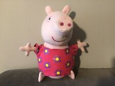 Peppa Pig Plush Cuddly Toy With Flowery Dress