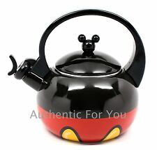 NEW Disney Parks Mickey Mouse Body Parts Metal Black & Red Tea Kettle Pot