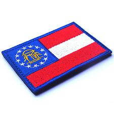 USA Georgia GA STATE FLAG GA U.S. ARMY 3D EMBROIDERED TACTICAL PATCH #05