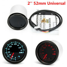 12V Car Auto 7 Color LED Voltage Meter 2'' 52mm Universal Volt Voltmeter Gauge