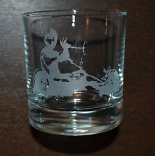 SANCTUARIES EDGE POWER KITE BUGGY ETCHED WHISKEY GLASS GIFT PRESENT KITESURFER