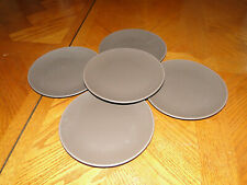 "Lot of 5 Ikea DINERA BROWN Pattern 8"" Salad / Dessert Plates"