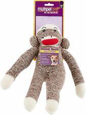 Multipet Sock Pal Monkey Squeaky Plush Dog Toy 10inch   Free Shipping