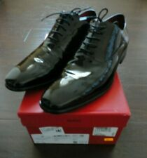 NEW Hugo Boss Oxford Dress Shoes Black Patent Leather Size 10.5