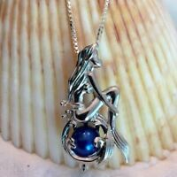 Jewelry Freshwater Pearls Pearl Cage Necklace Pendant Mermaid Chain