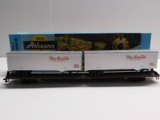 New ListingHo Scale - Athearn - Union Pacific 85' Flat Car Train w/ (2) Piggyback Trailers