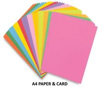 A4 Coloured Arts & Craft Sheets Ream - 80gsm Paper OR 160gsm Card