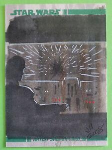 2008 topps MILLENNIUM FALCON sketch card HAN SOLO star wars JESS HICKMAN clone