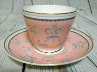 Wedgwood Pink Pimpernel Bone China Cup & Saucer Set Made in England
