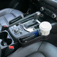 Black Car Seat Crevice Storage Box Phone Cup Holder Caddy Gap Pocket Organizer (Fits: Fiat)